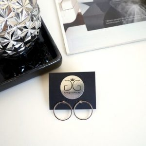 Silver colour circle earrings GG UNIQUE