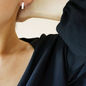 Minimalist bar earrings