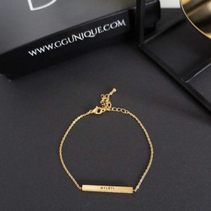 GG UNIQUE PERSONALIZED GOLD COLOUR BRACELET